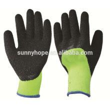 Sunnyhope verde luvas industriais de segurança, luva revestida de látex en388
