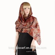 2016 Frühling / Sommer Lady klassische floral bedruckte Polyester Voile langen Schal Schal