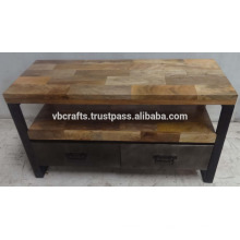 Industrial Urban Loft TV Stand Mango Holz Top