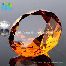 Faveurs de mariage de presse-papiers de diamant en verre de cristal / décoration à la maison / décor de partie
