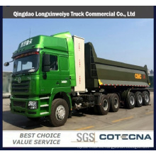 Remolque de volquete delantero de semirremolque de semirremolque de camión pesado Tri-Axles