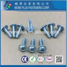 Fabricado em Taiwan Carbon Steel IFI SPEC Carbon Steel C1022 PHIL Round Round Washer Head Case Harden Type F Self Tapping Screw