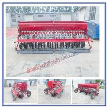 Sembradora de trigo montada en tractor con neumáticos