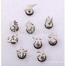 Fashion earring piercing stud men ear gauges for sale