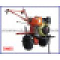 Cp1050 6HP 4.4kw Tiller Diesel Tiller de dos ruedas Mini Tiller Tiller de jardín Tiller agrícola Tiller giratorio Tiller de potencia diesel