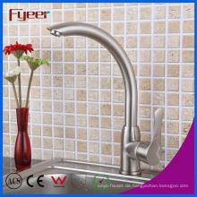 Fyeer Nickel Gebürstet 360 Drehbare Küche Waschbecken Mischbatterie Wasserhahn