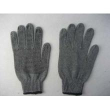 Gant à pois simple en PVC tricoté noir 7g