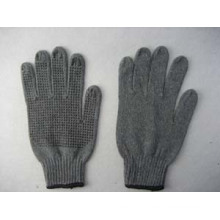 7g Black String Knit PVC Single Dotted Glove
