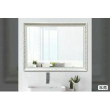 Rectangle 60 * 80cm personnalisé grand format cadre en polystyrène argent miroir mural