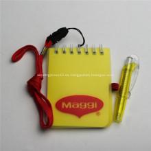 Cojín de nota personalizadas promocionales impresión W / Pen