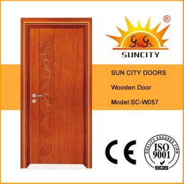 China Puerta de madera sólida de la chapa de la mejor venta (SC-W057)
