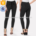 Vertical Striped Skinny Pants Manufacture Wholesale Fashion Women Apparel (TA3077P)