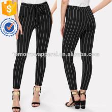 Calças skinny listradas verticais fabricar atacado moda feminina vestuário (td3077p)