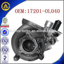 CT16V 17201-OL040 17201-OL040 suralimentateur pour Toyota KZN130