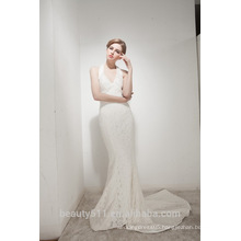 Mermaid Halter Neck Court Train With Elegant Lace Wedding Dress AS30602