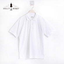 Casual Breathable Simple White Short Sleeve POLO Shirt
