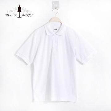 Chemise POLO à manches courtes blanche simple et respirante