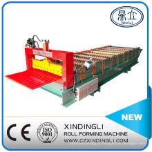 Máquina formadora de rolos de chapa ondulada para telhados de design popular
