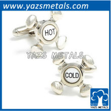Hot & Cold faucet cufflinks, customize high quality metal cufflink crafts