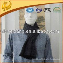 Bufanda por encargo de la borla lateral de seda del 100% de los hombres el 100%