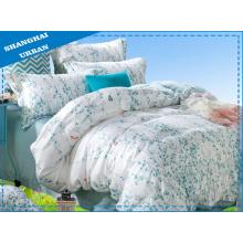 3 piezas de algodón poliéster edredón de cama con el conjunto de la cubierta
