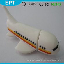 USB 2.0 Kunststoff Flugzeug USB Stick für kostenlose Probe