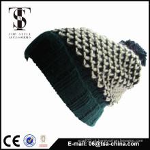 O mais vendido 2015 novo design 100% acrílico crochet chapéu beanie