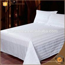 Algodão branco tecido de hotel 5 estrelas para conjunto de cama, 200 fios