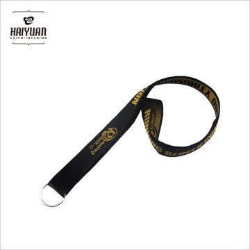 Customized Fabric Lanyard with Printing and Woven/Embroidery Logos