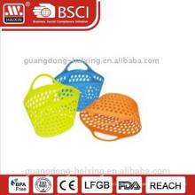 cesta de lavanderia plástica w/capa