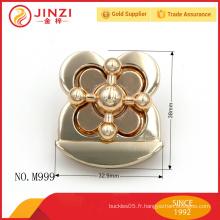 Forme spéciale de fleur forme femme sac à main pièces de verrouillage M999