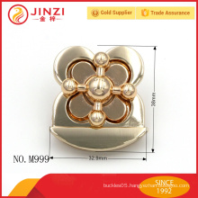 Special design flower shape fashion woman handbag lock parts M999
