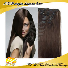 High Qulity Factory Price Cheap 100% Human Hair Clip In Hair Extension