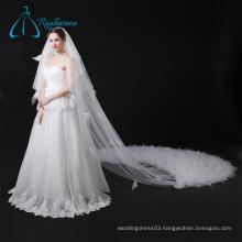 Wedding Flower Girl Veil ,Custom-Made Bridal Long Lace Wedding Veil