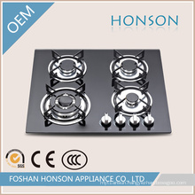 Black Toughened Glass Built-in Hot-Selling Gas Stove