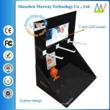 Verschiedene Stile 7-Zoll-LCD-Bildschirm freistehende Karton display
