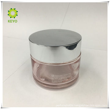 100g transparent pink glass jar thick wall glass bottle makeup container glass cosmetics jar bottle