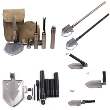 Outdoor Military Folding Shovel Pickax Hoe Army Spade