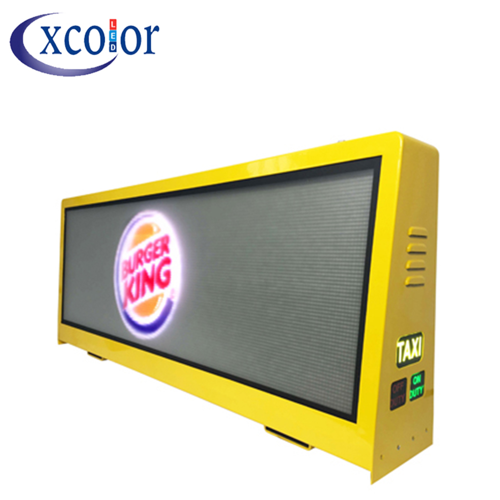 Outdoor GPS RGB P5 Taxi Top Led Screen