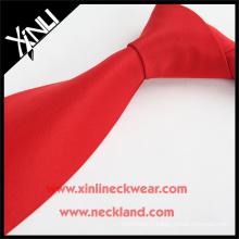 Laver à sec seulement Jacquard tissé à bas prix en gros cravates rouge polyester