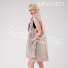 Iceland Lamb Fur Gorset Winter For Lady