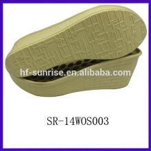 SR-14WOS003 ladies pu sole pu outsole italian pu sole ladies sandals pu sole wholesale