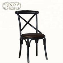 Оптовая торговля Китай Alibaba мебель столовая кафе закусочная бистро крест X назад металлический стул