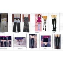 2015 Japan Asien-Art und Weise neuer Entwurf hohes falsches Spleißen-Sockenstrumpfschlauch für Geschlechtsbein