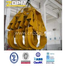 Electro-hydraulic rectangular grapple bucket
