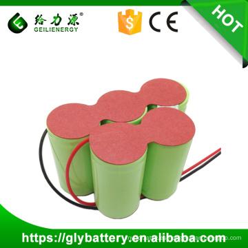 Paquete de batería recargable de alta capacidad 6V 5000mah NIMH tipo D