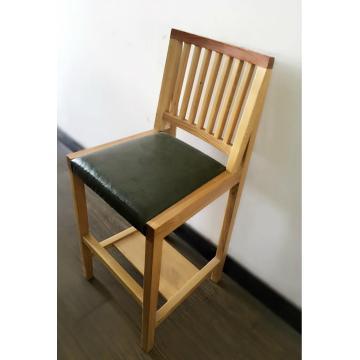 Solid Wood Sushi Bar High Leg Stool Chair