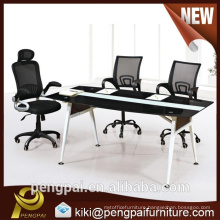 2m Black and white strong frame conference table