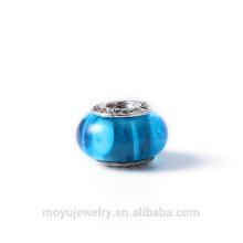 Ensemble de pendentifs en argent assortis, pendentifs en perles de cristal, perles de verre et entretoises pour les bracelets en forme de serpent.