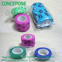 Printing Cohesive Bandage, Non Woven Cartoon Elastic Bandage